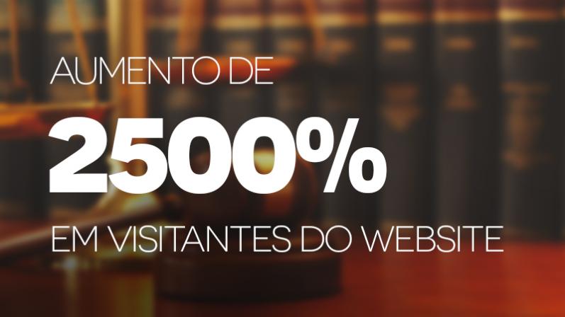 Saiba como o Bortolotto & Advogados Associados aumentou em 2500% os visitantes de seu website