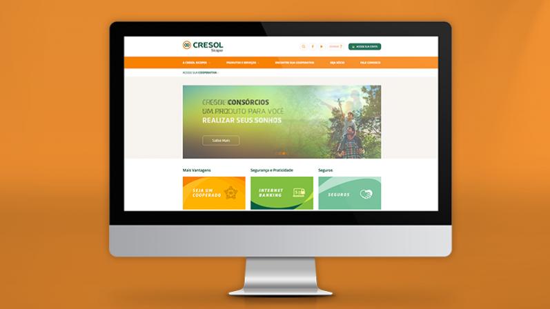 Central Cresol Sicoper lança novo website desenvolvido pela 2op Propaganda
